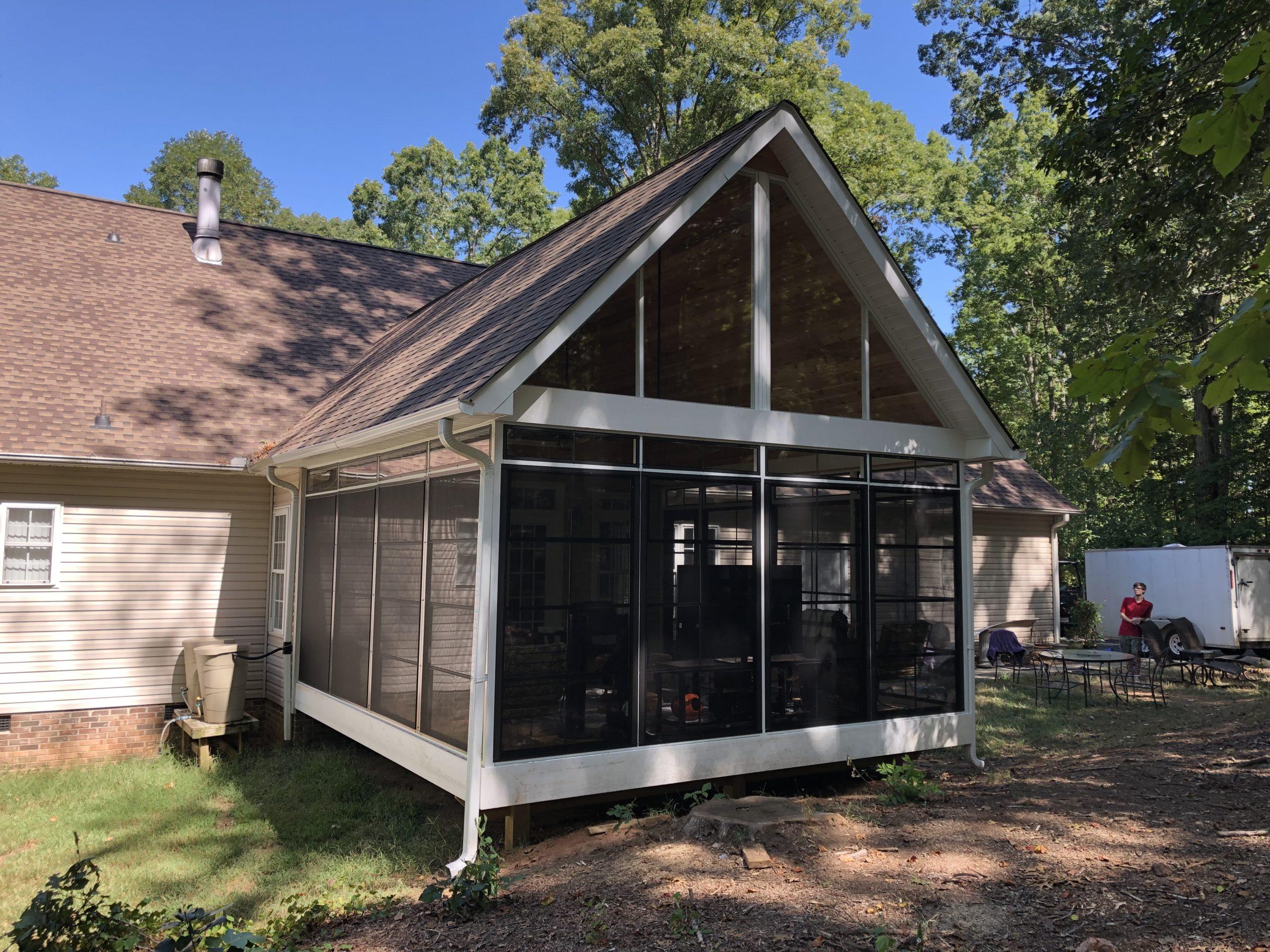 Porch screen room enclosure Greenville